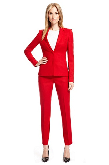 Stretch Wool Pant Suit,