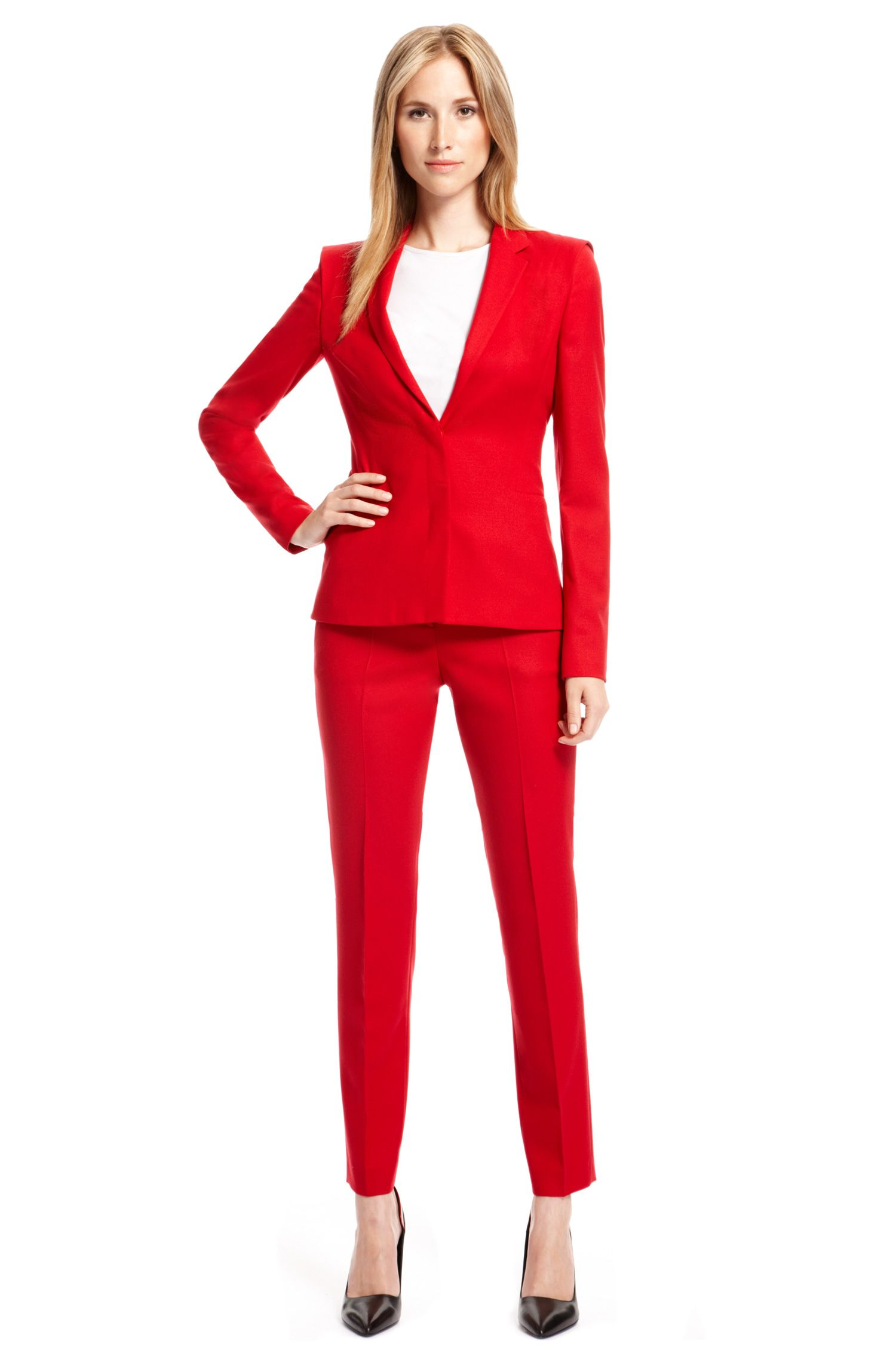 Stretch Wool Pant Suit