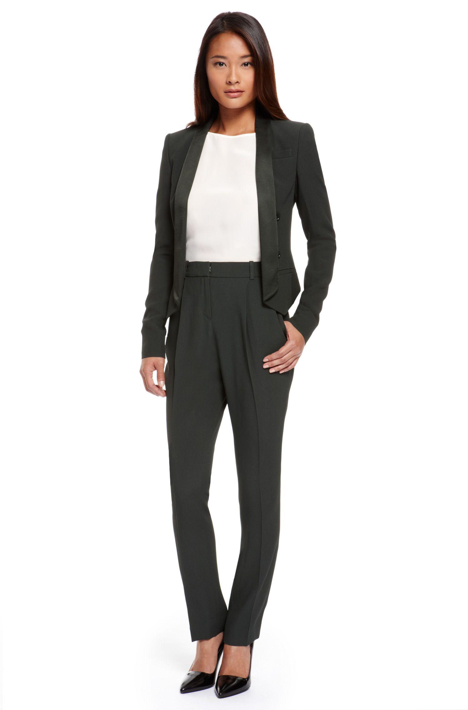 Viscose-Blend Pant Suit