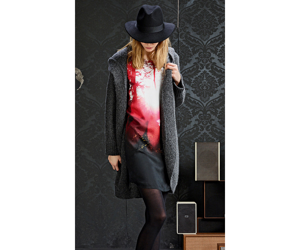 BOSSOrange Womenswear photo-print dress in red andwhite
