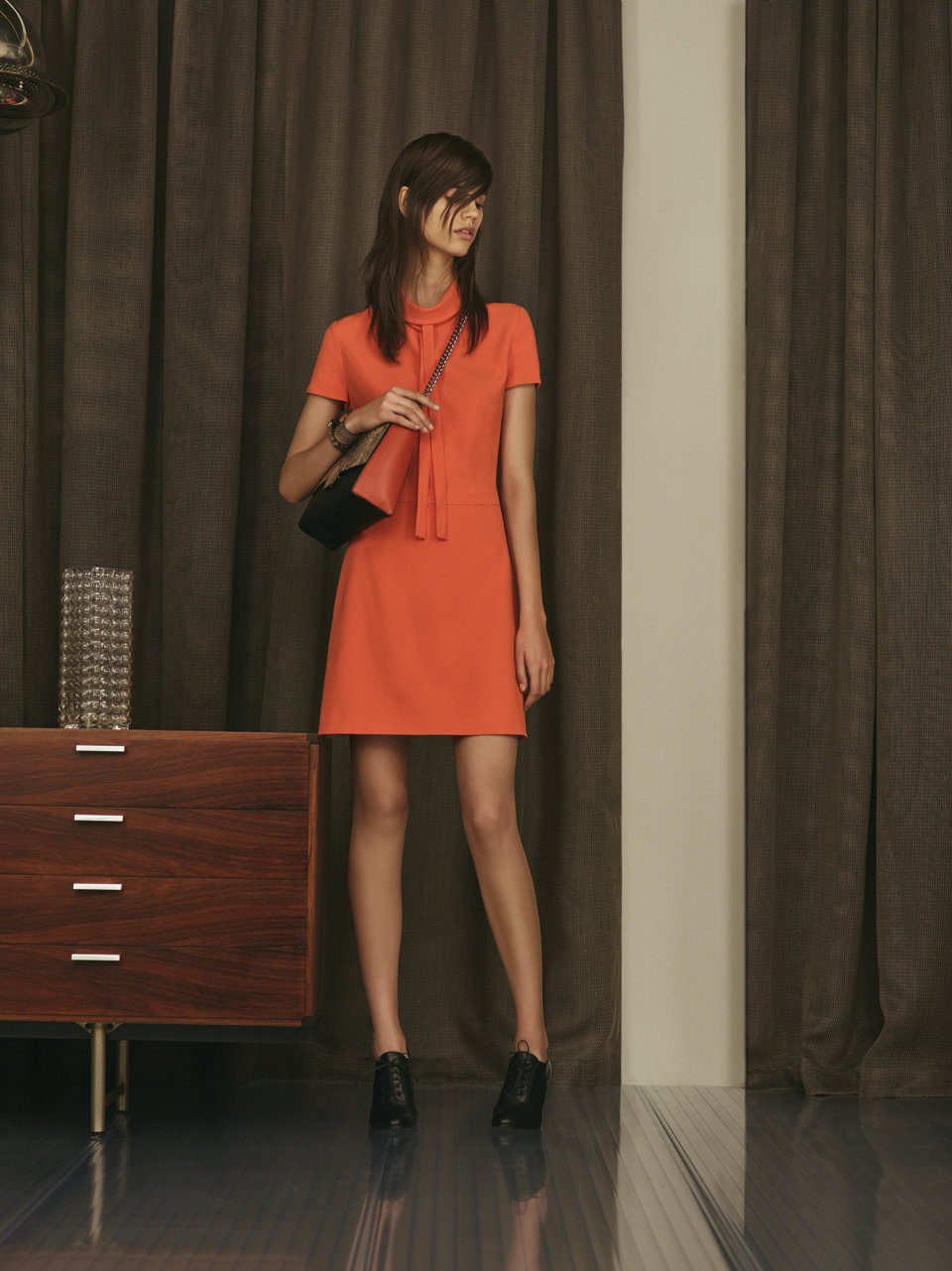 Coral dress by HUGO