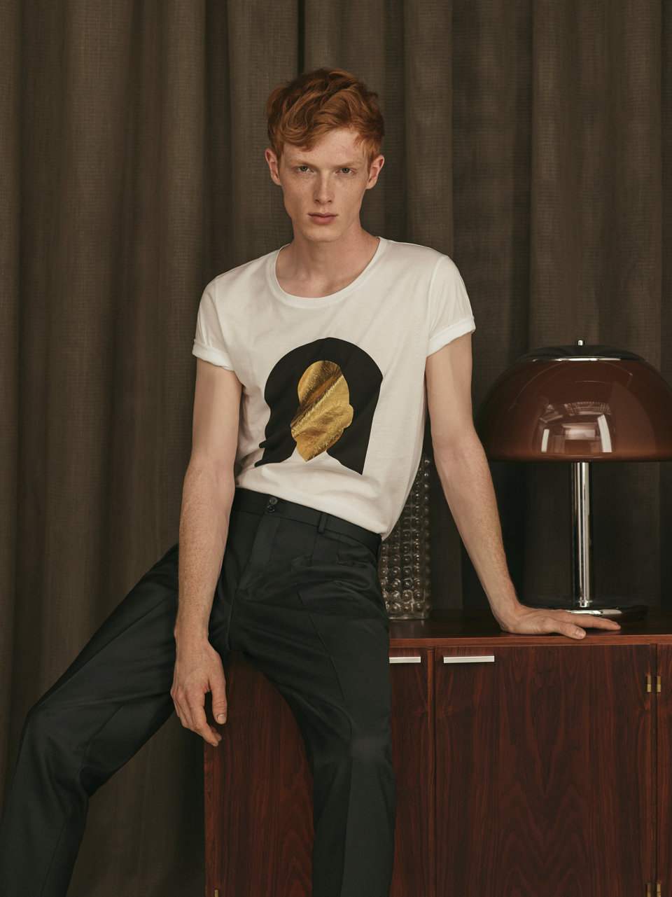 Black & gold shirt and jeans by HUGO