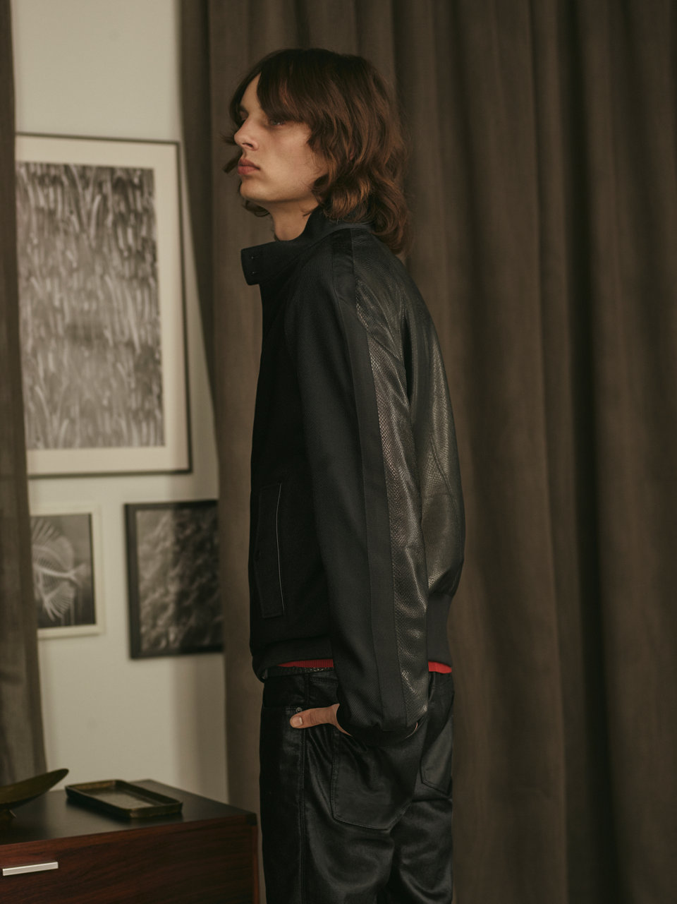 black Jacket, black water-repellent jacket by HUGO
