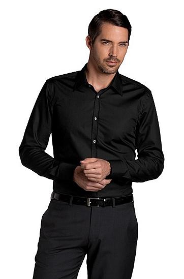 Business-Hemd ´MAX` mit Kentkragen, Schwarz