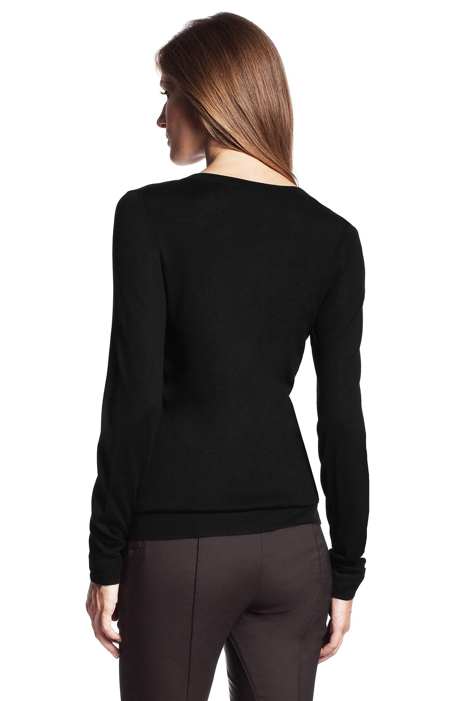 Feinstrick-Pullover ´F3441` aus Seiden-Mix