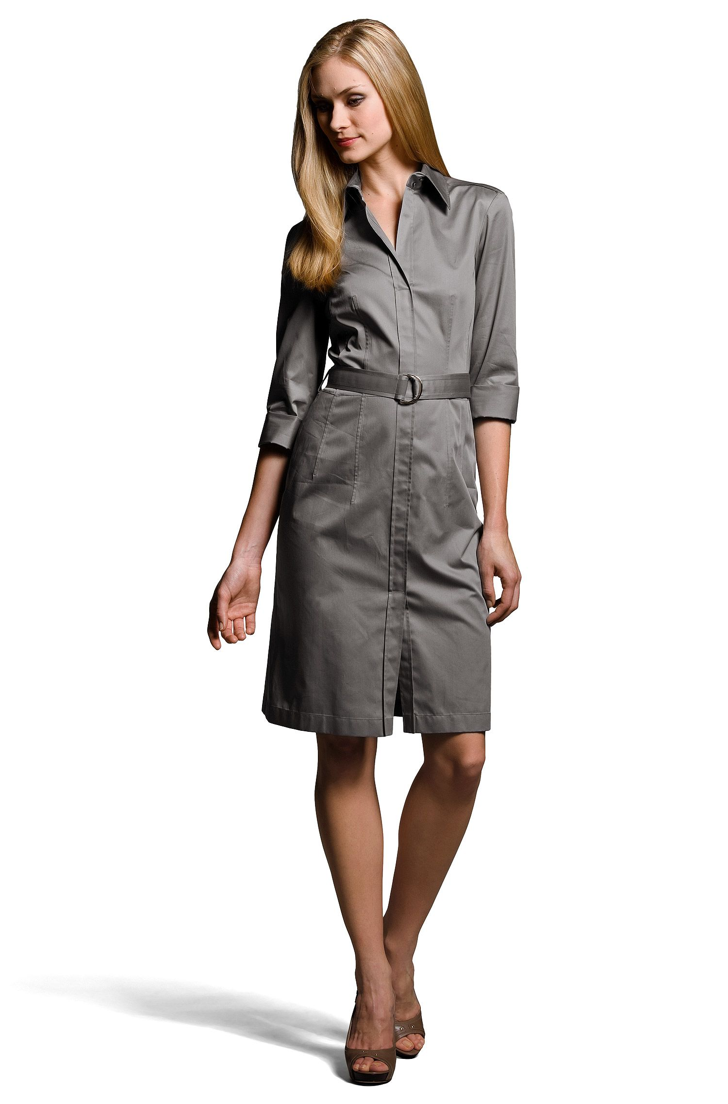 Robe-chemise à ceinture, Dashina2