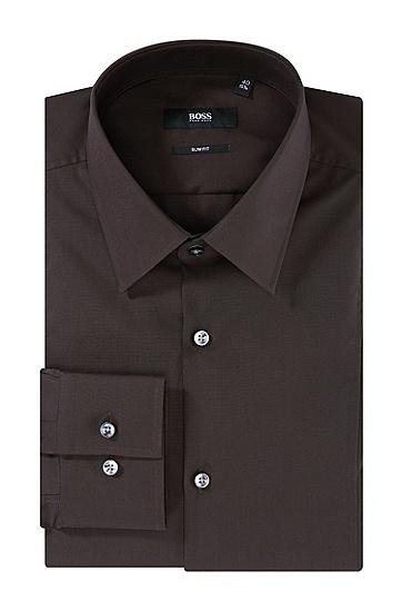 Slim-Fit Business-Hemd ´Phillo`, bügelleicht, Dunkelbraun