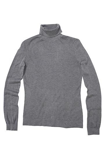 Rollkragen Pullover ´F3699` aus Kaschmir, Hellgrau