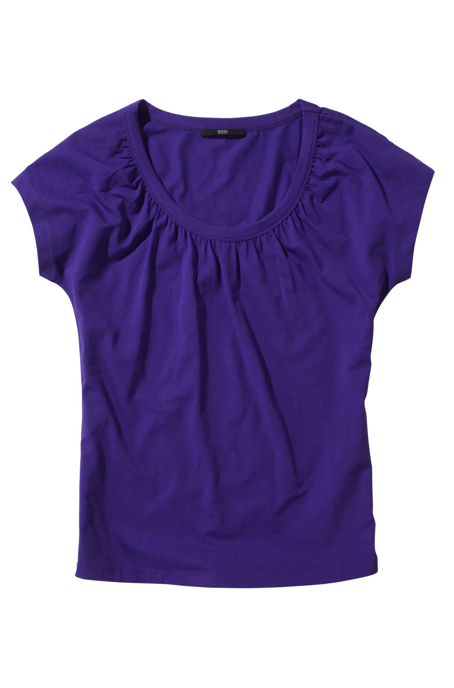 T-shirt ´E3948` met gerimpelde details