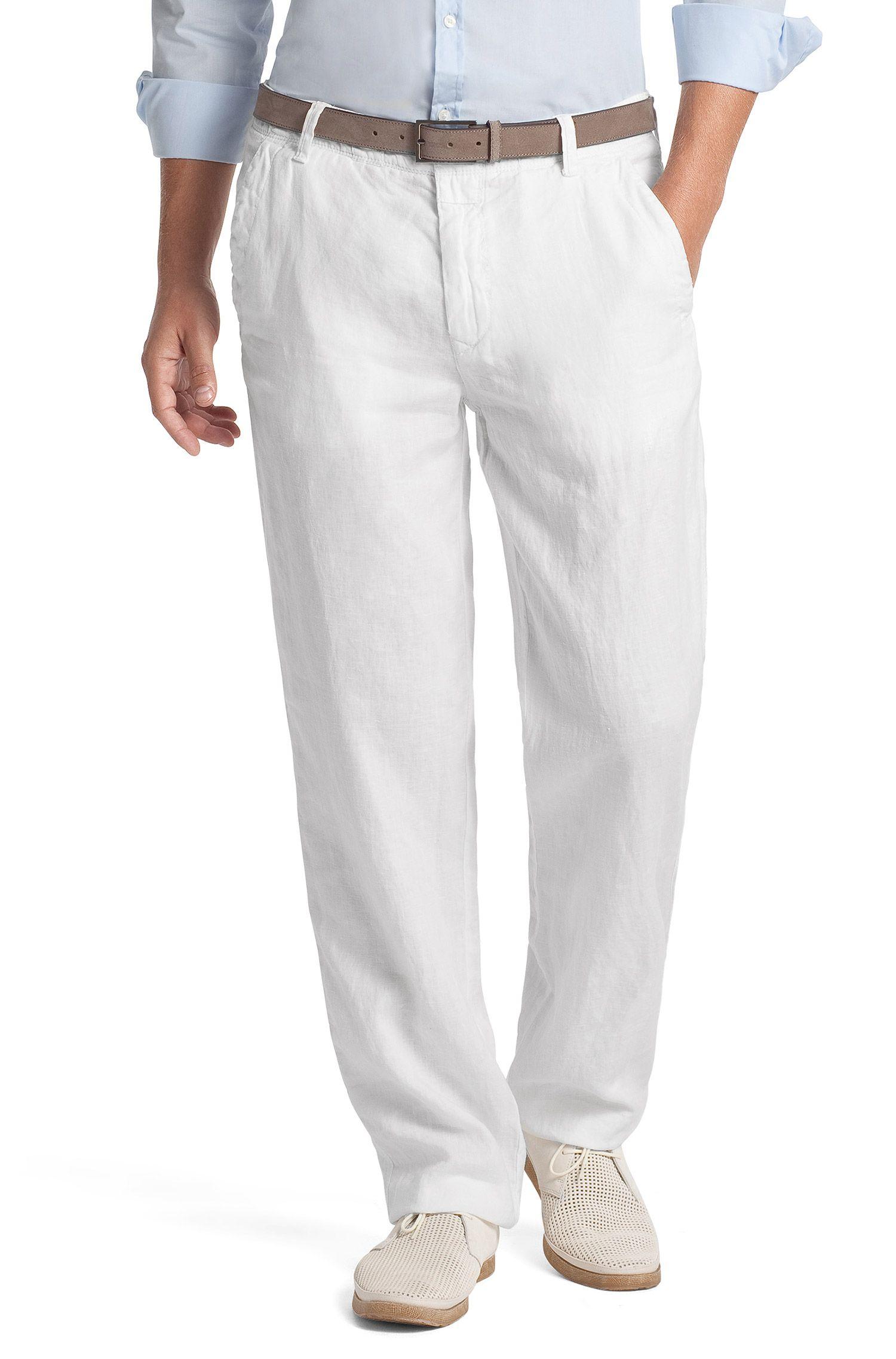 Pantalon en lin coupe Comfort Fit «Callum-W»