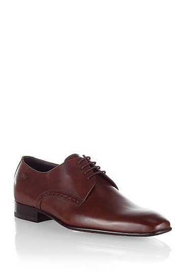 Chaussures Derby design en cuir, MELZIO, Marron