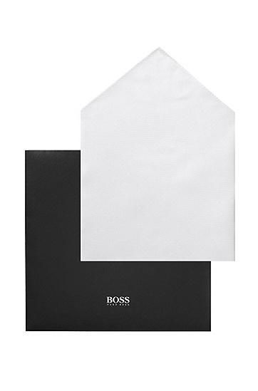 Designer-Einstecktuch ´Pocket Square 33X33`, Weiß