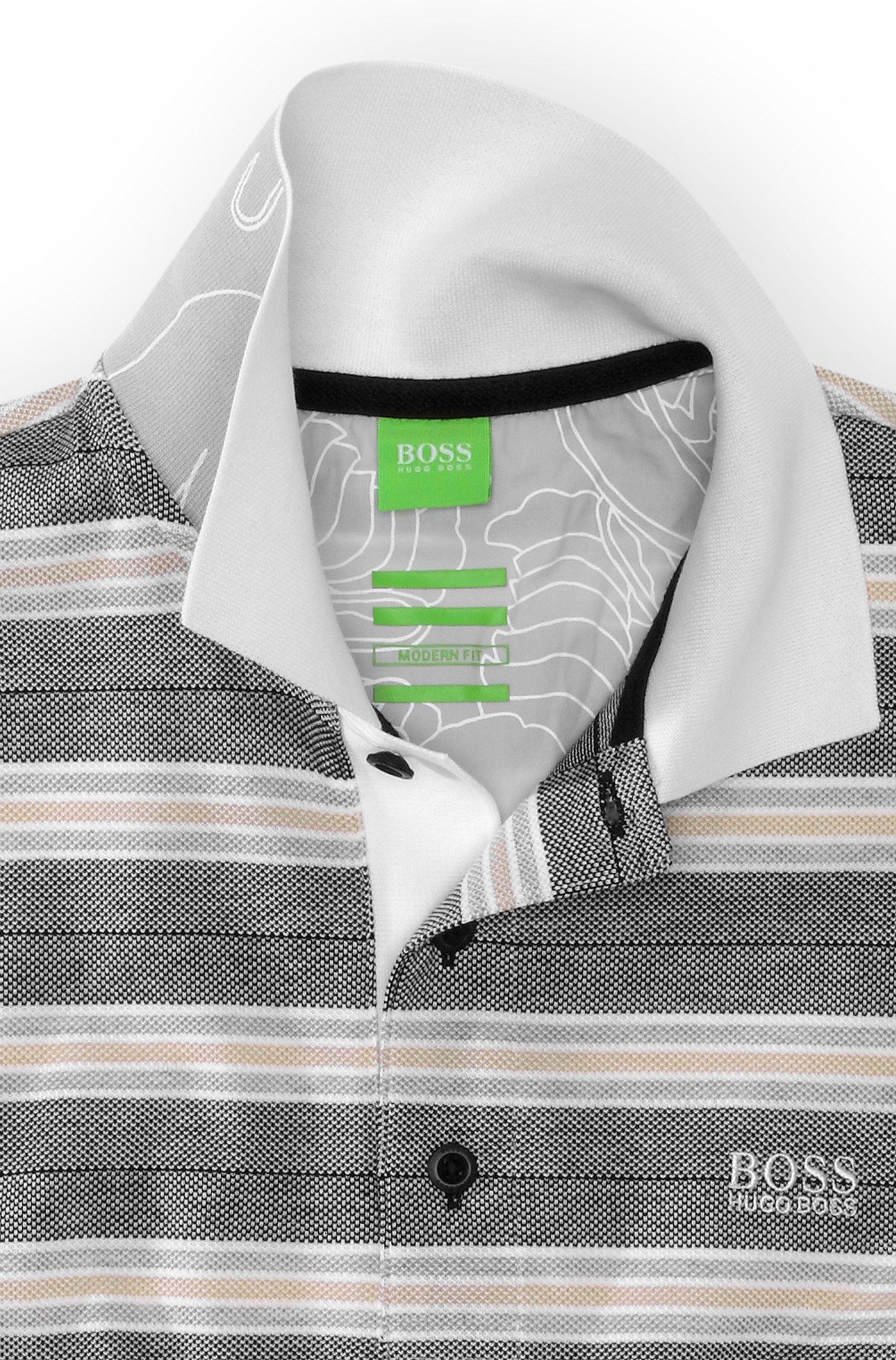 Poloshirt ´Paddy 1` met Oxford-strepen