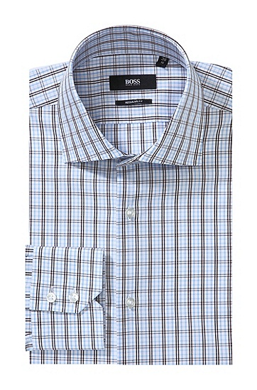 Business-Hemd ´GERALD` mit Easy-Iron-Ausstattung, Dunkelbraun