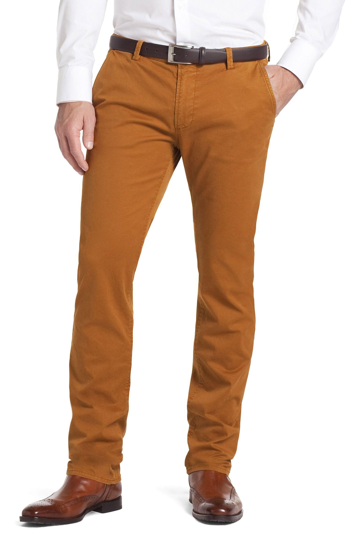 Pantalon chino en coton stretch, Rice-1-D
