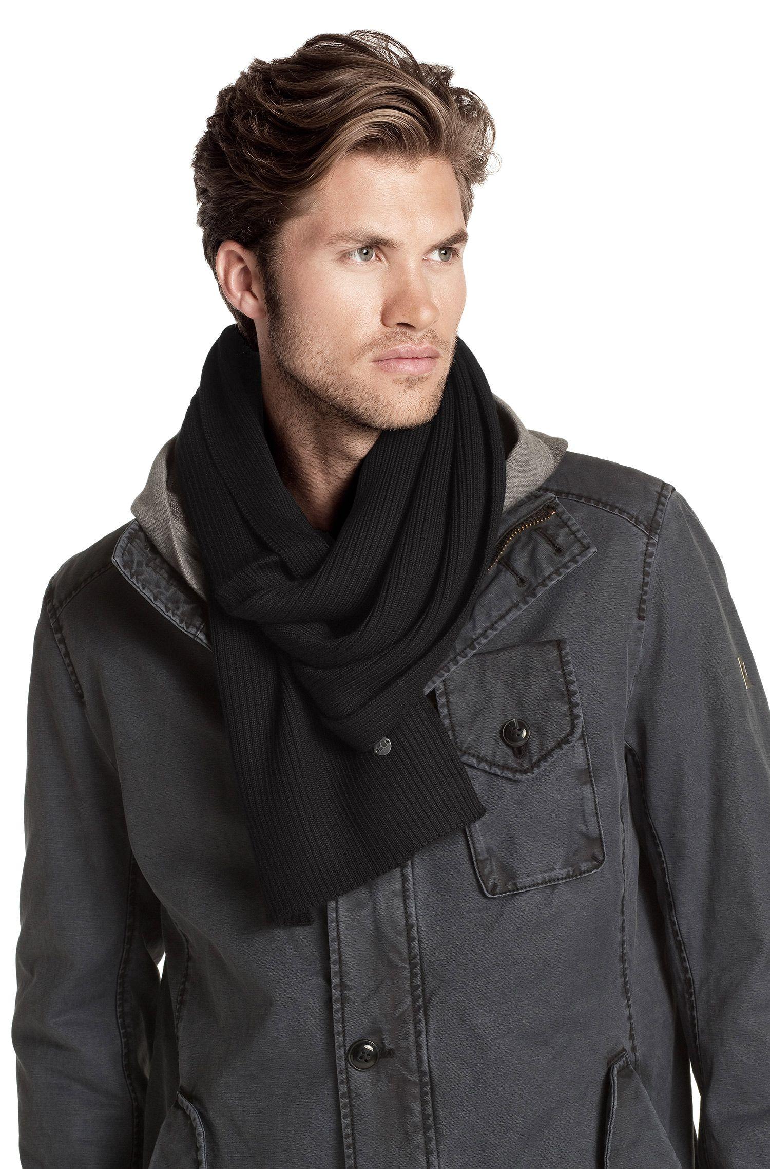 Écharpe en laine vierge mélangée, Aaraff