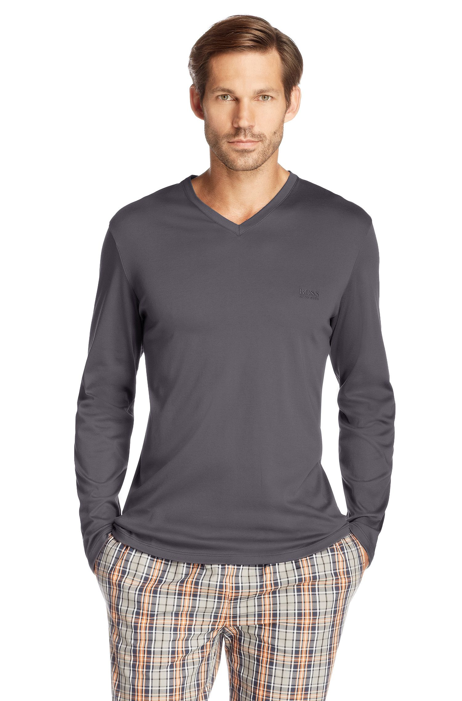T-shirt de nuit «Shirt LS VN BM» en coton