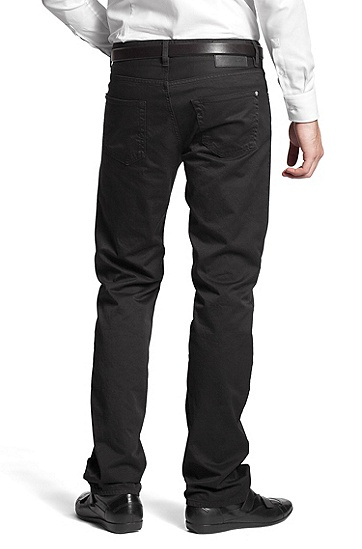 Regular-Fit  Jeans ´Kansas-10` aus Gabardine, Schwarz