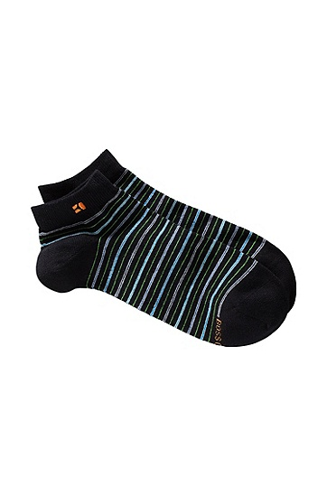 Striped, designer socks 'AS Design', Black