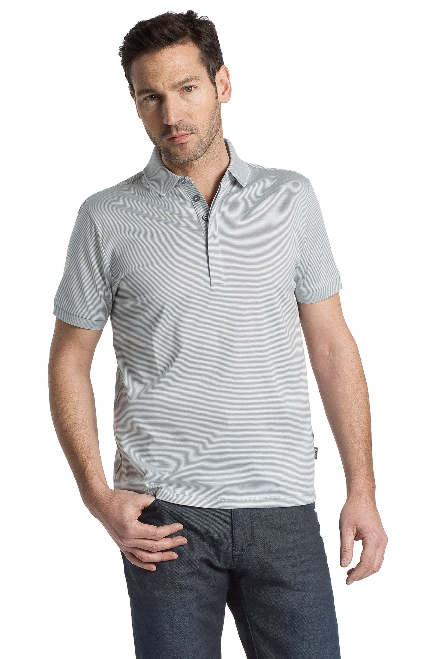 Poloshirt ´San Remo 05` met streepdessin