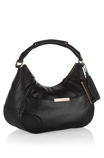 Designer-Tasche ´MEGGY` aus Rindsleder, Schwarz