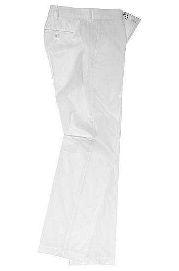Hose ´Springer` aus glatter Baumwolle, Weiß