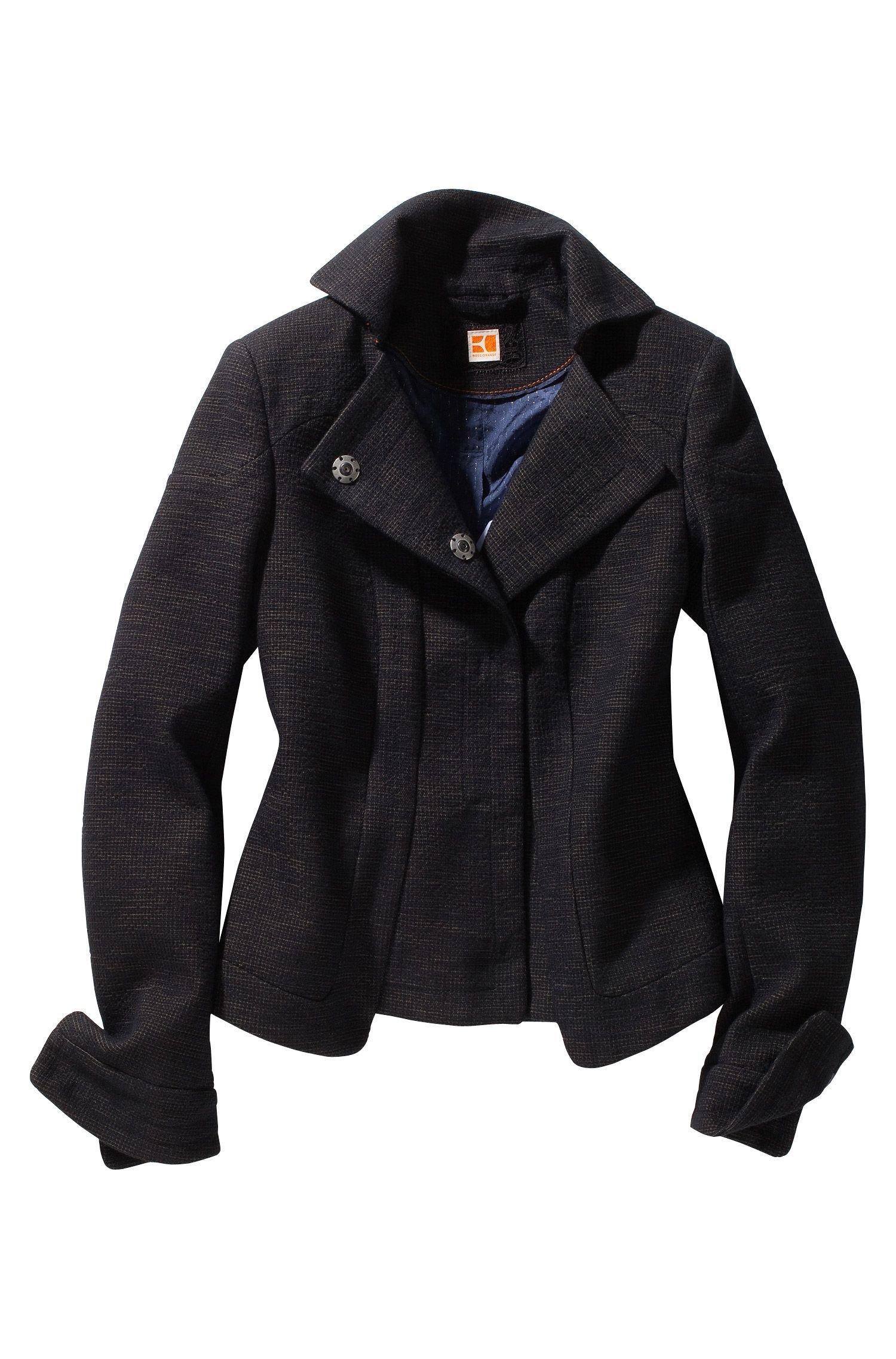 Korte jas ´Okersta` van een katoenmix