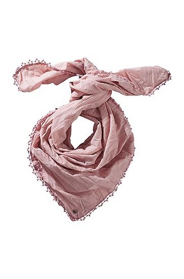 Tuch ´Nubase` aus Baumwolle, Flieder