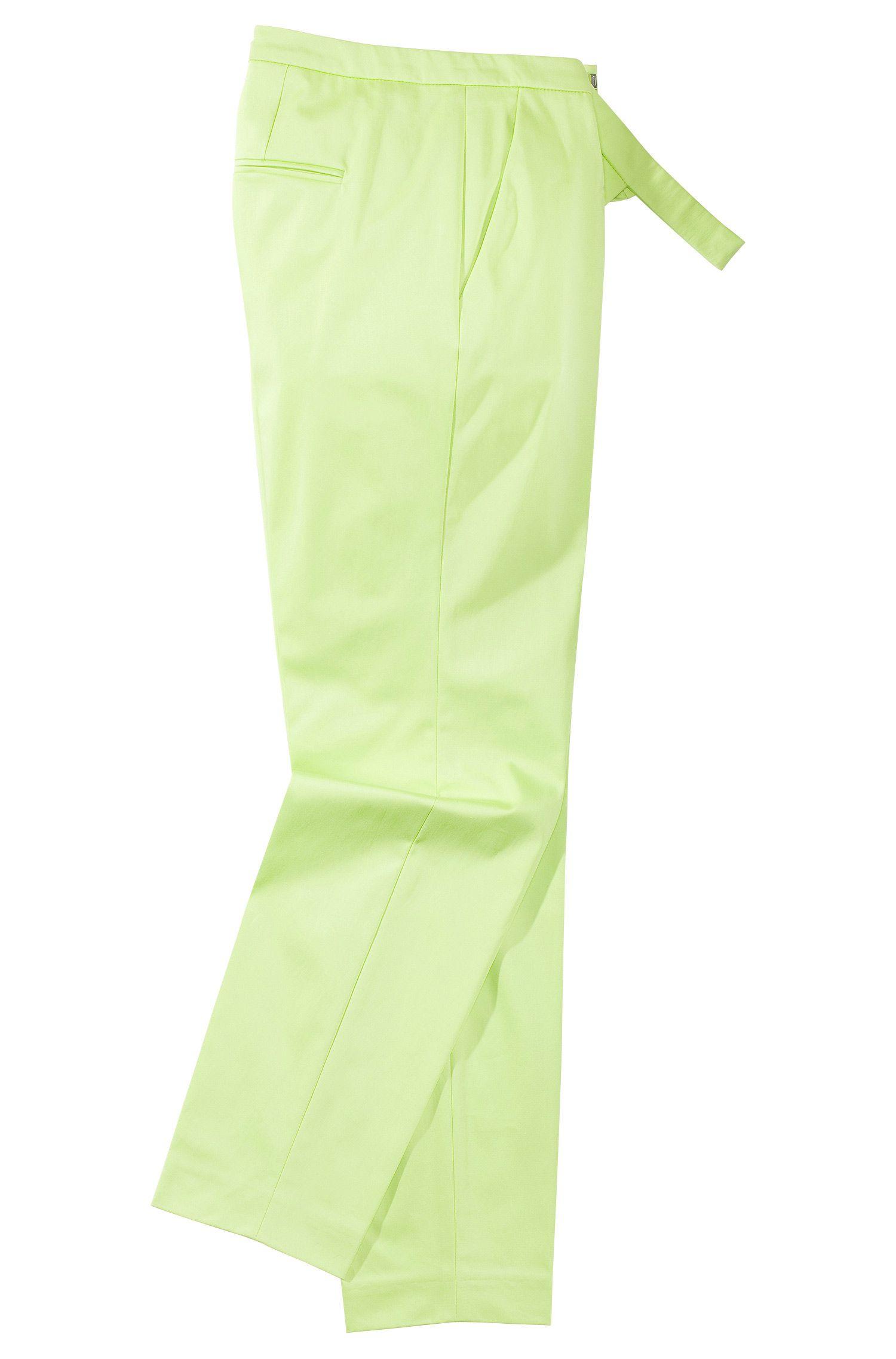 Pantalon en mélange de coton et d'élasthanne