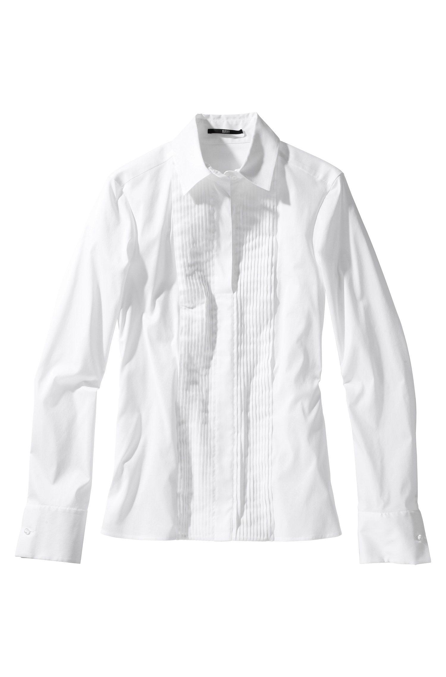 Fashion-Bluse ´Bashino` mit Plisee-Plastron