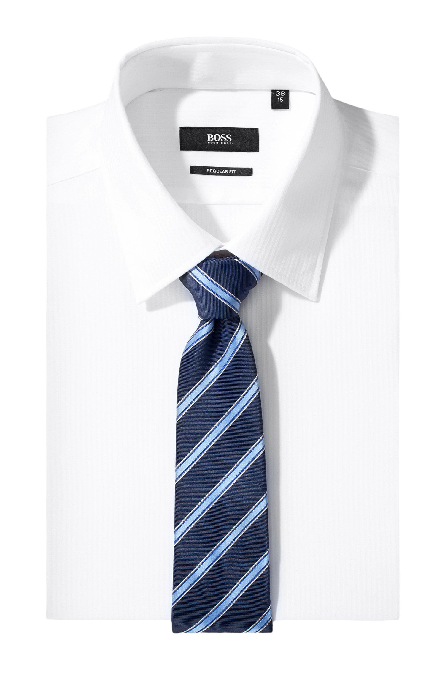 Cravate en soie à rayures, Tie 7,5 cm