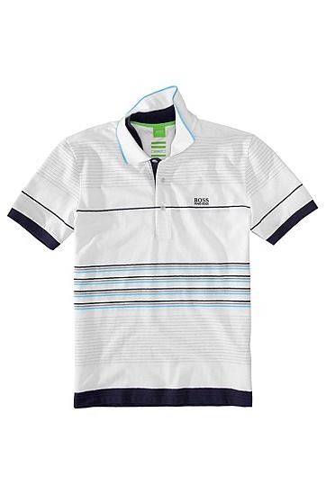 Sportiv gestreiftes Poloshirt ´Paddy 8`, Weiß