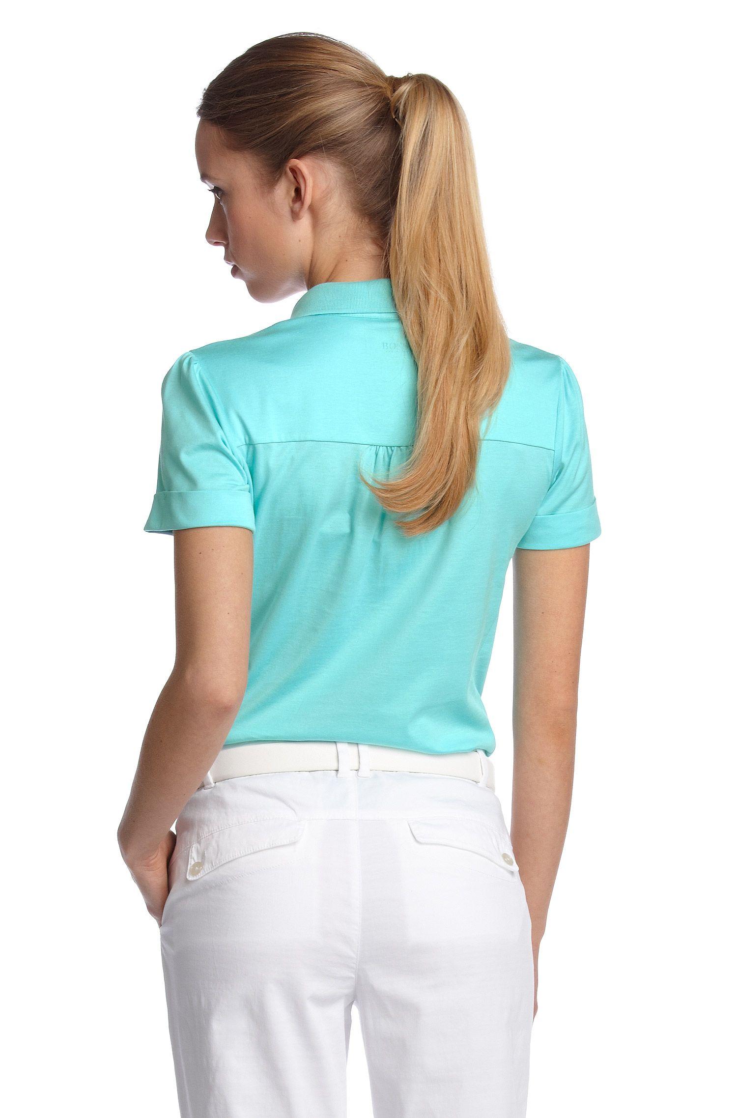 Poloshirt ´Pega` met lichte pofmouwen