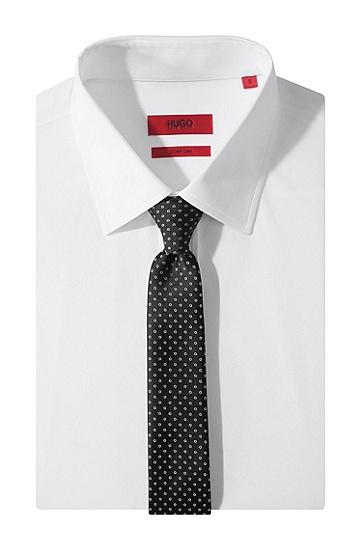 Krawatte ´Tie 6 cm` aus reiner Seide, Schwarz