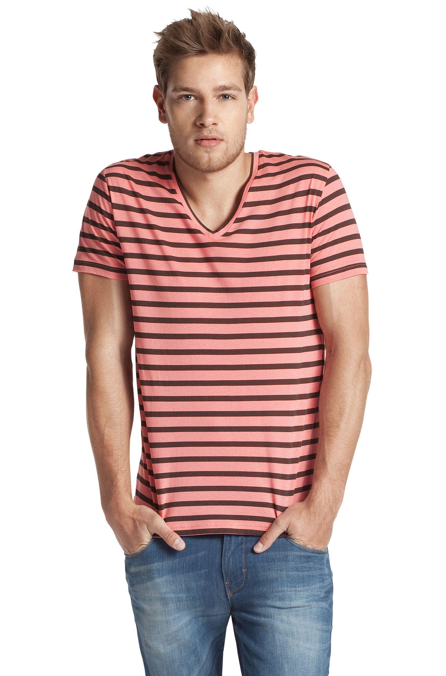 Katoenen T-shirt met V-hals ´Toast`