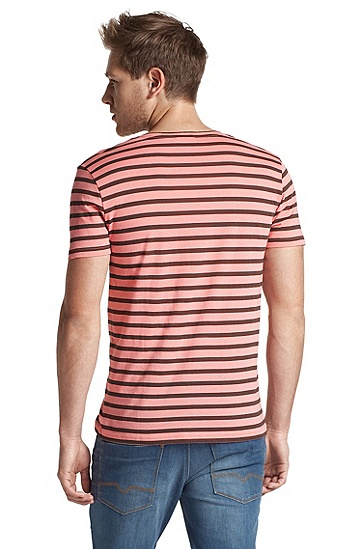 Baumwoll-Shirt ´Toast` mit V-Ausschnitt, Pink