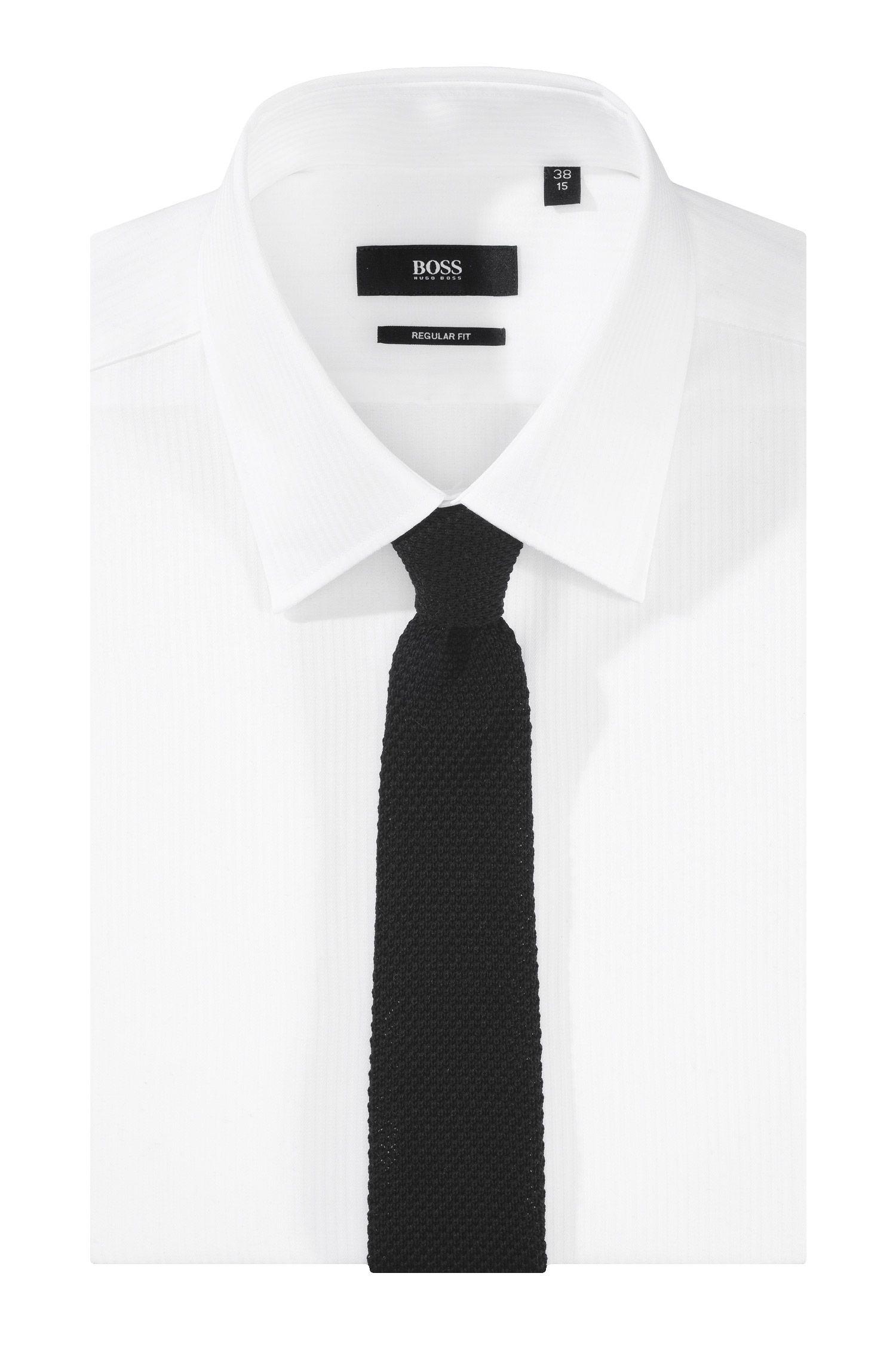 Cravate en maille de coton, Knitted Tie cm 5