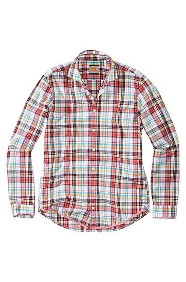 Freizeit-Hemd ´EtalyE` mit kleinem Kentkragen, Hellrot