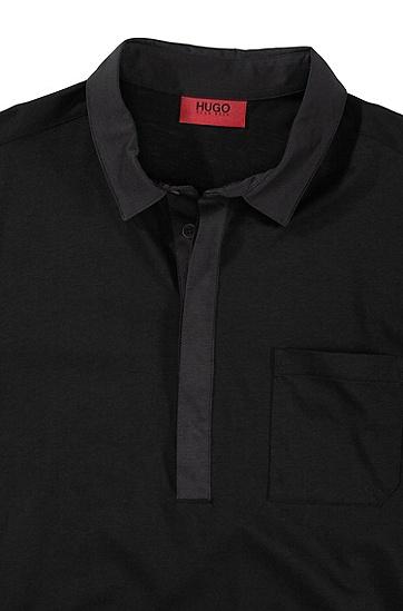 Polo-Shirt ´Duggins` aus reiner Baumwolle, Schwarz