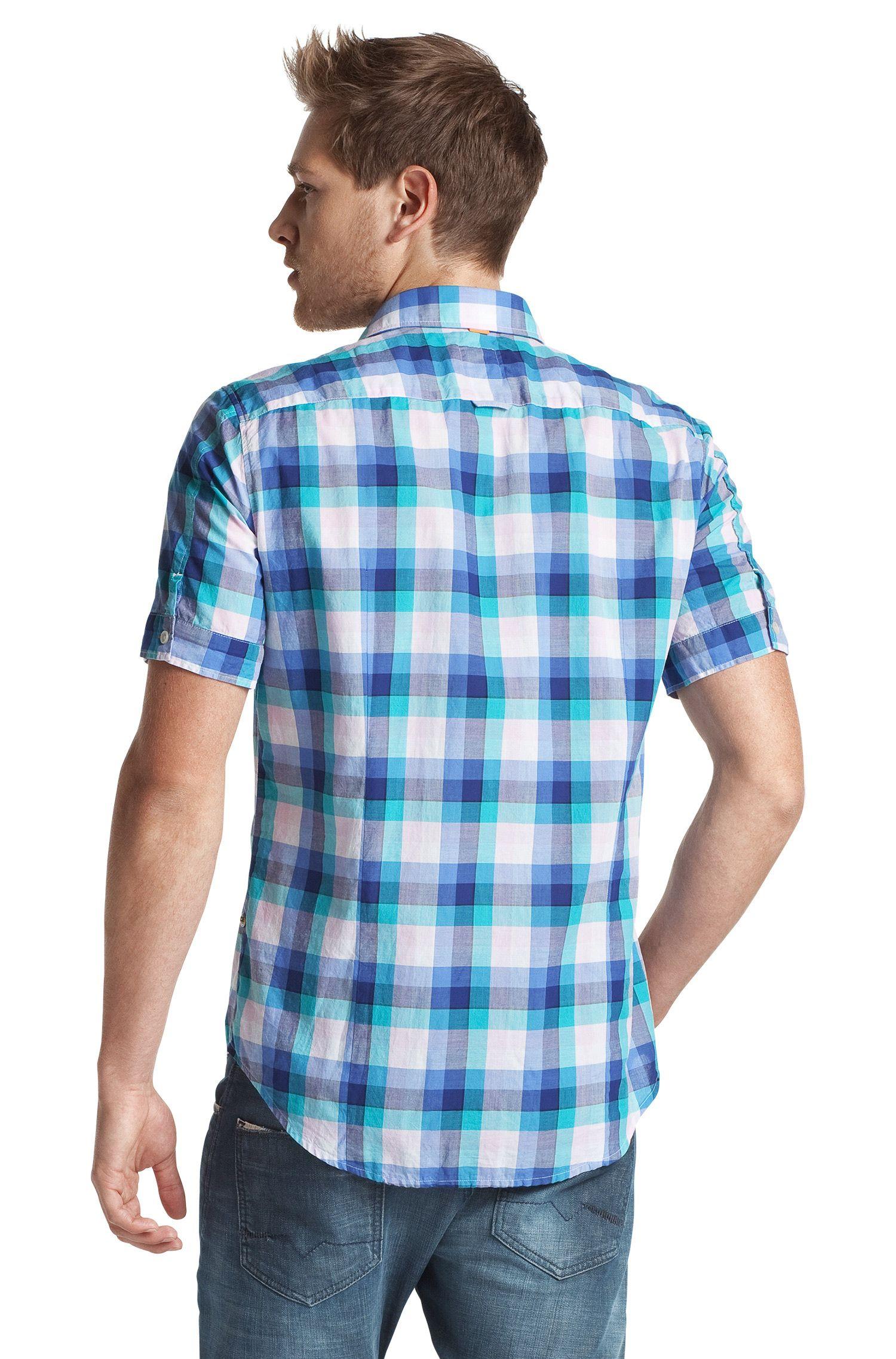 Overhemd ´CliffiE` met kentkraag en korte mouwen