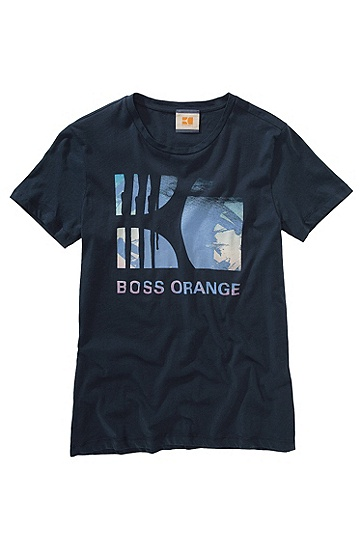 T-Shirt ´Terenz 1` mit Rundhals-Ausschnitt, Dunkelblau