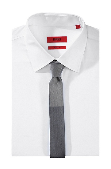 Seiden-Krawatte ´Tie 4,5 cm`, Hellgrau