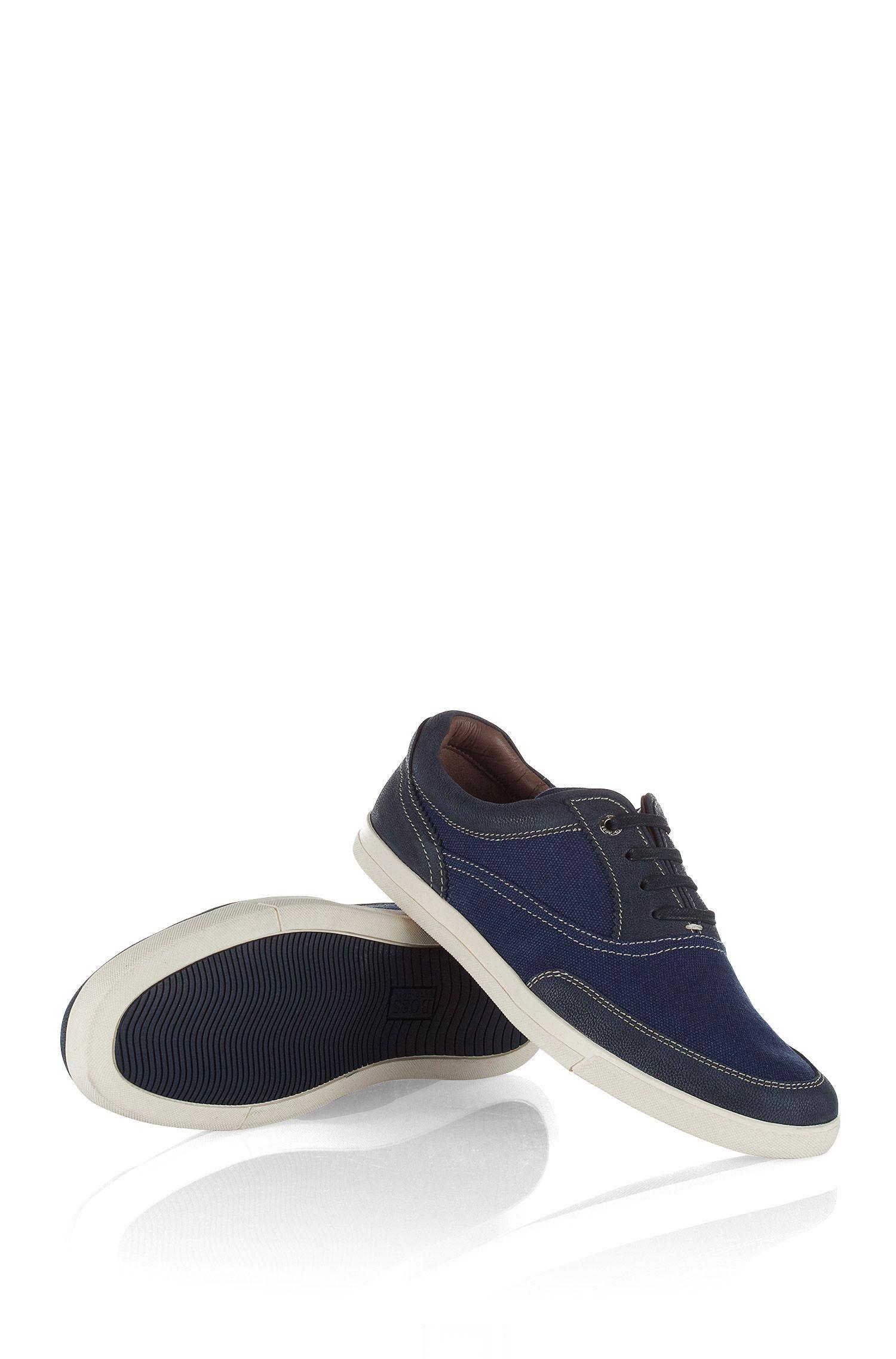 Sneakers ´Cejano` van canvas en kalfsleer