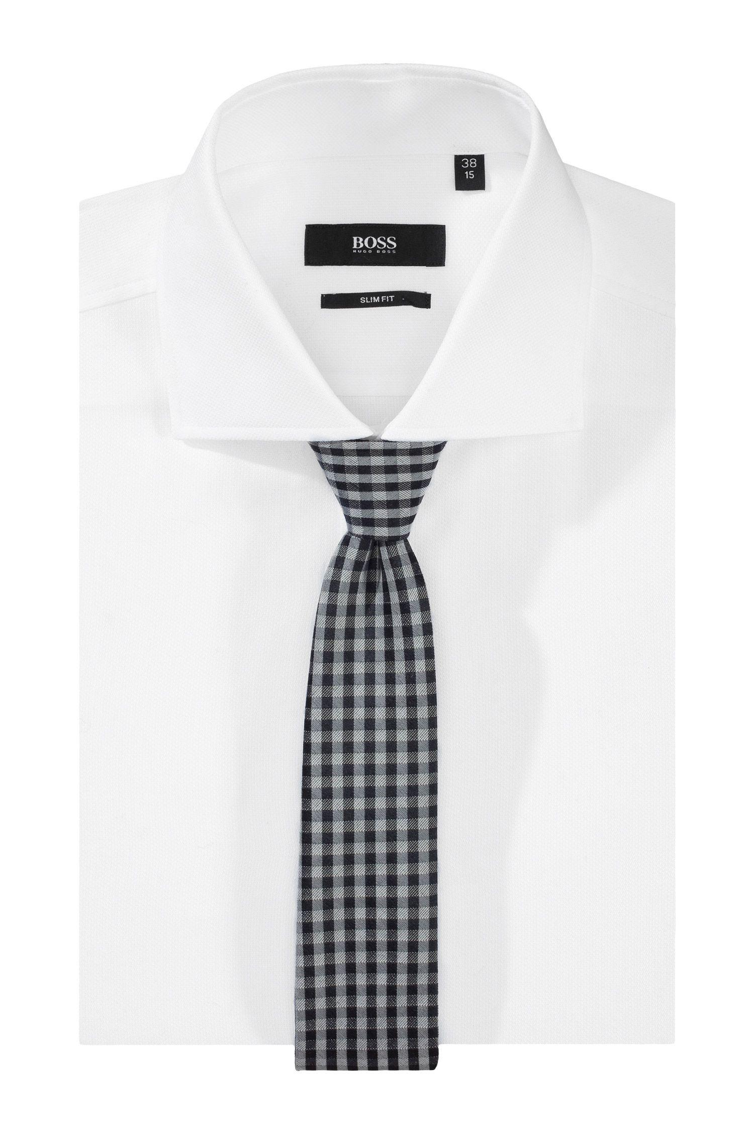 Cravate en soie mélangée, Tie 6 cm