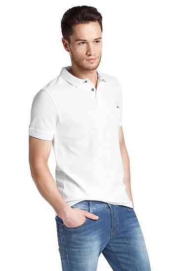 Kurzarmpolo ´Pascha` aus Baumwolle, Weiß