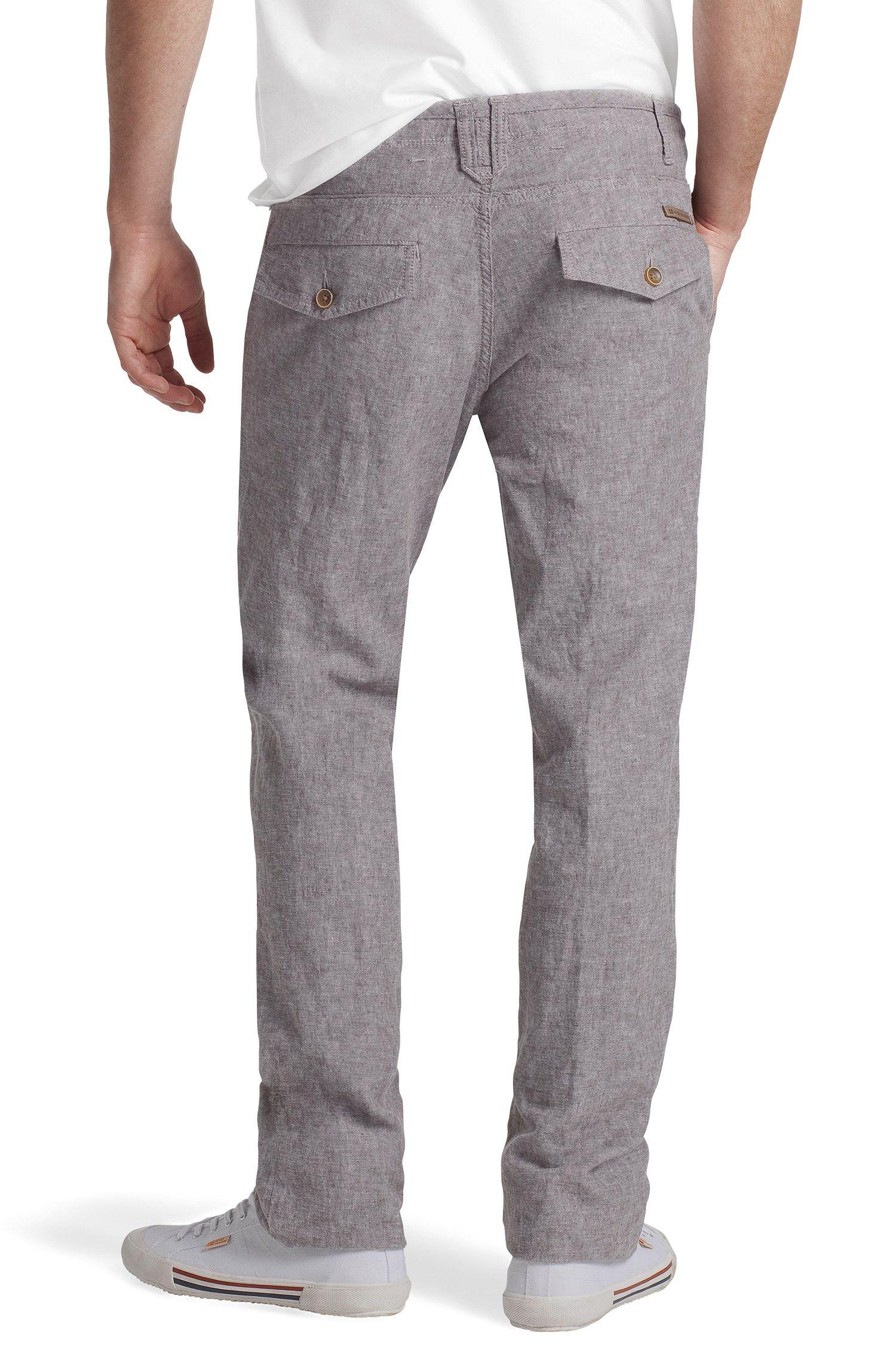Pantalon détente en lin et coton, Slant-W