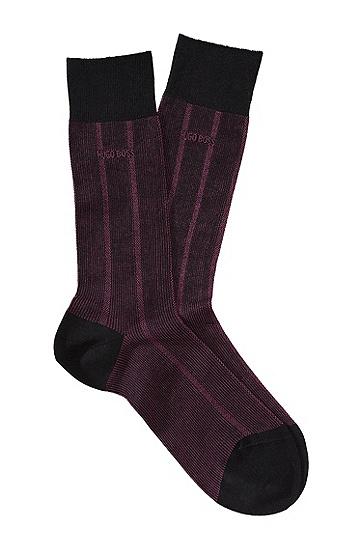 Socken ´RS Design` aus merzerisierter Baumwolle, Schwarz