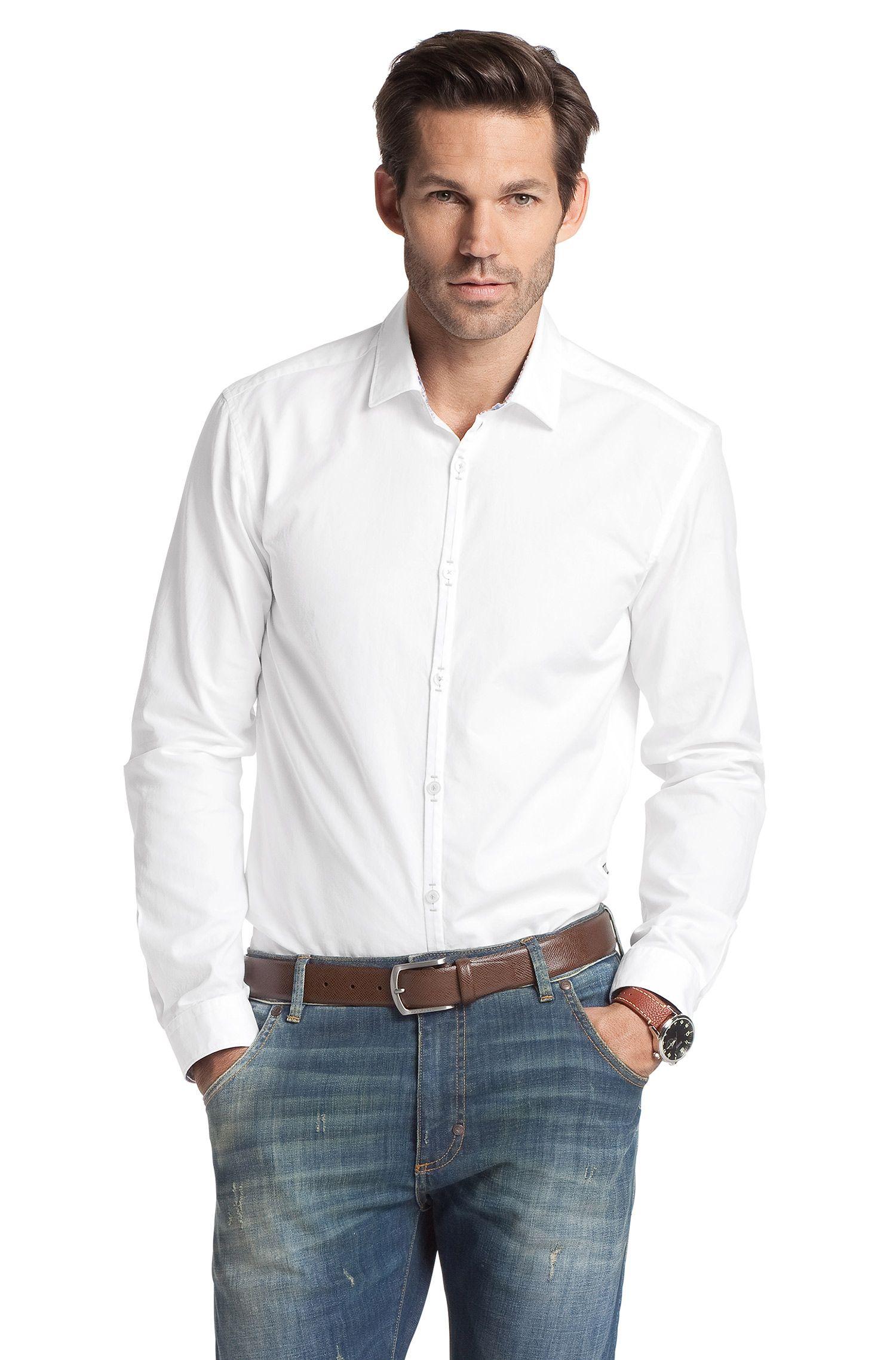 Chemise détente à col Kent étroit, Riccardo
