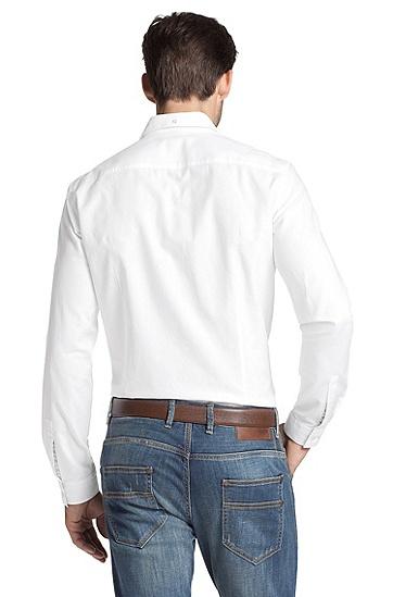 Freizeit-Hemd ´Riccardo` mit schmalem Kentkragen, Weiß