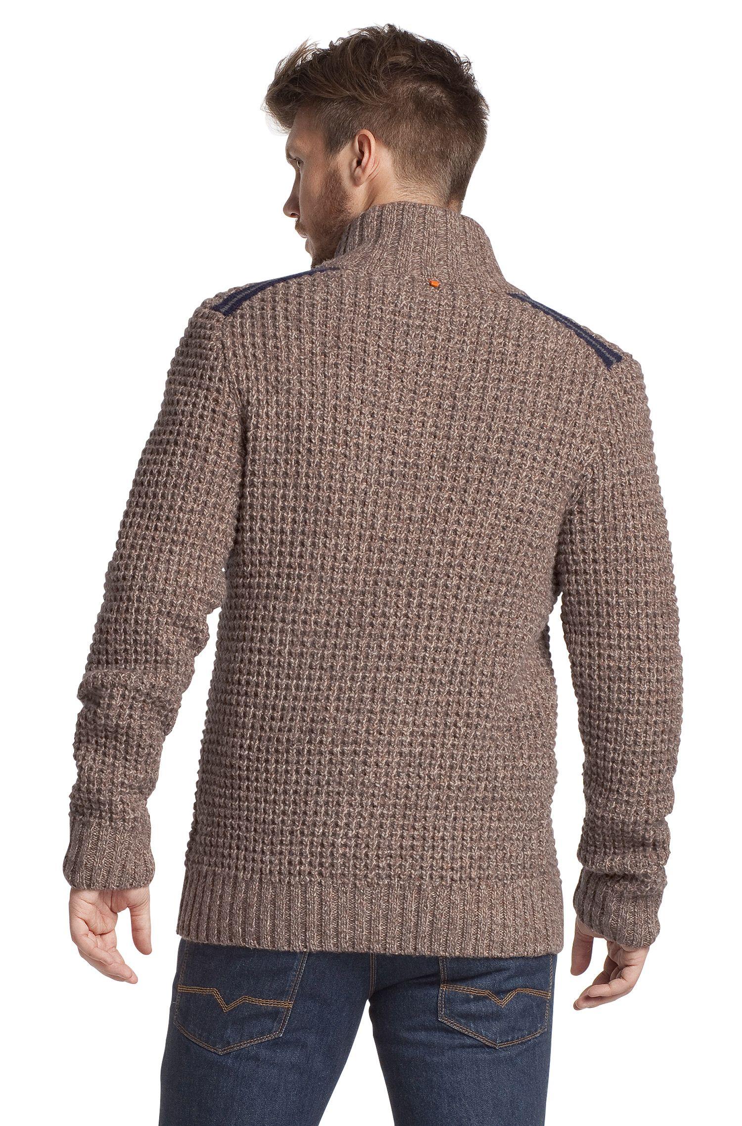 Gebreid vest ´Aris` van een scheerwolmix